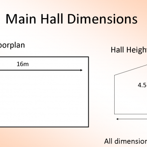 hall dimesions